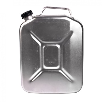 Metalen jerrycan geïsoleerd