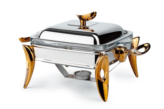 Metalen keukengerei voor catering in buffetvorm
