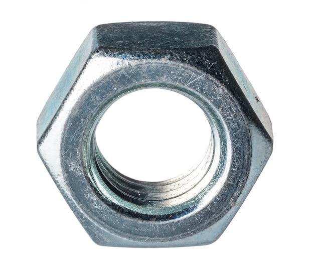 Metalen moer geïsoleerd