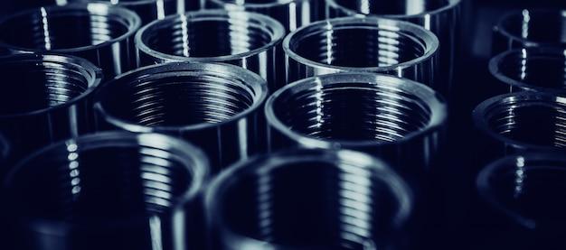 Metalen producten gemaakt op draaibankmachine