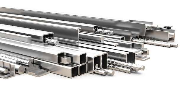 Metalen profielen met verschillende vorm