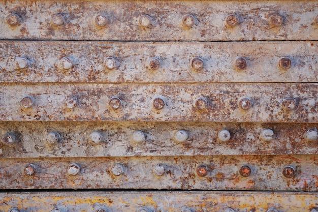 Metalen textuur achtergrond van roestig ijzeren bouwstuk