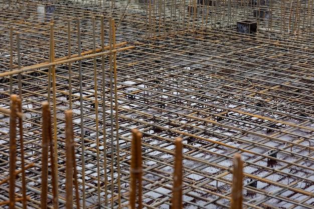 Metalen wapeningsconstructie van een hoogbouw of commerciële complexe metalen constructie