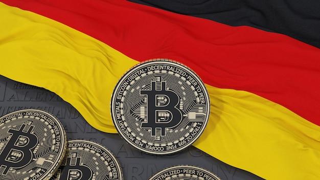 Metallic bitcoin over duitse vlag