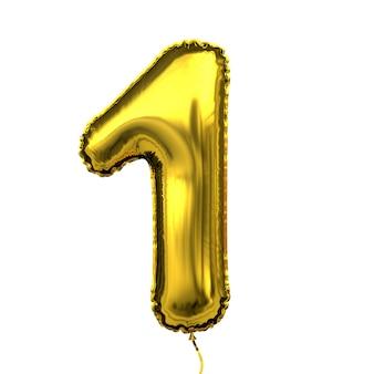 Metallic golden letter ballon cijfer cijfer nummer