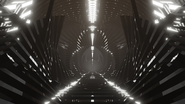 Metallic in light future achtergrond voor behang in scifi- en technologie-innovatiescène