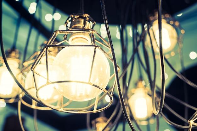 Metallic lampen met grote lampen