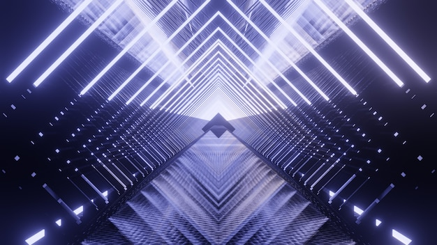 Metallic lichte toekomstige achtergrond voor reclame in scifi en technologie-innovatiescène