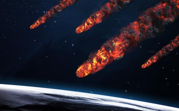Meteorenregen. elementen van deze afbeelding geleverd door nasa