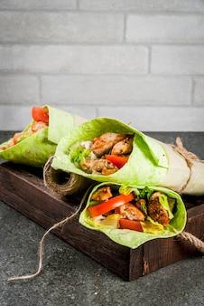 Mexicaans eten. gezond eten. wrap sandwich