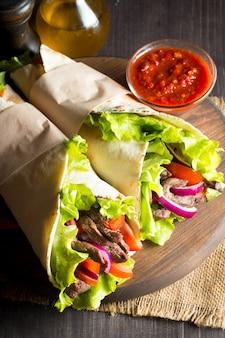 Mexicaans wrap eten