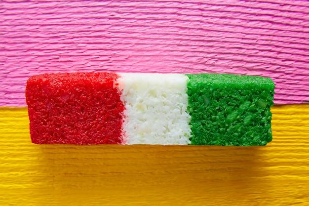 Mexicaanse kokosnoot vlag snoep gestreepte chredded