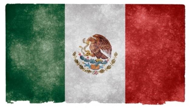 Mexico grunge vlag