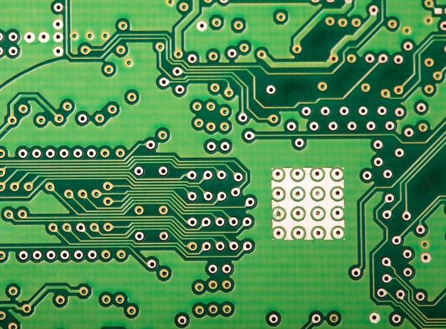 Microchip close-up achtergrond voor technologieontwerp