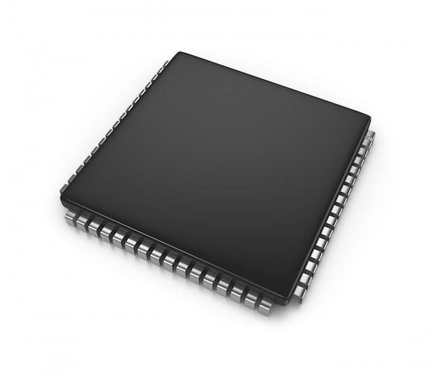 Microchip op wit