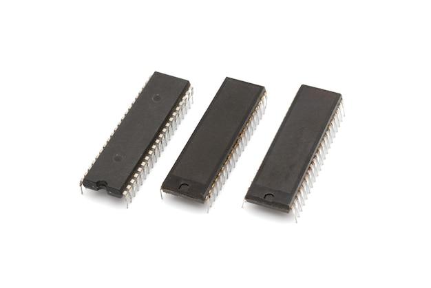 Microchips die worden gebruikt bij de fabricage van computers