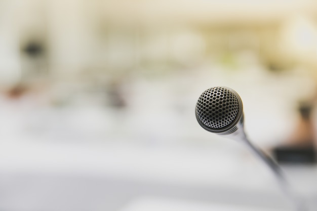 Microfoon in de vergaderruimte