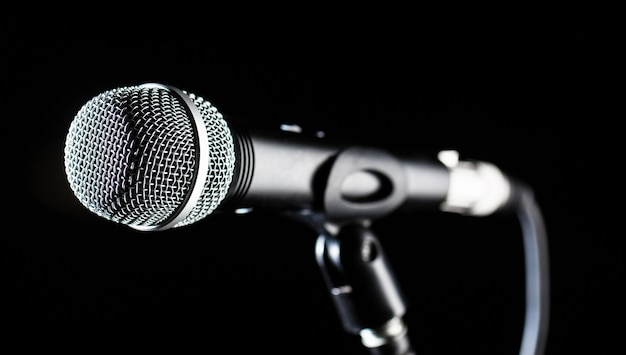 Microfoon, microfoon, karaoke, concert, stemmuziek.