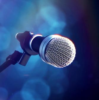 Microfoon op het podium