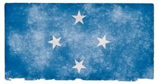 Micronesia grunge vlag symbolisch