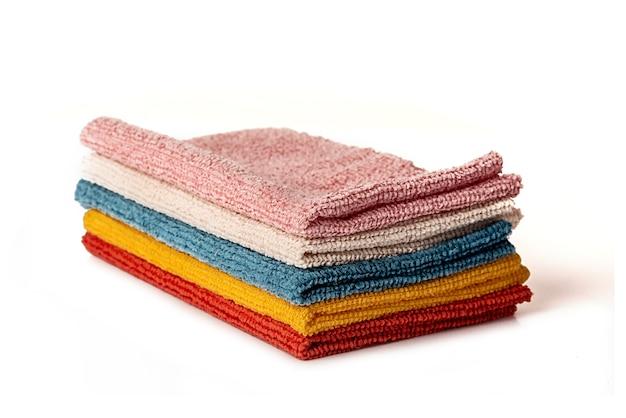 Microvezeldoeken voor het reinigen van ruimtes. huishoudelijk werk en kantoorwerk.