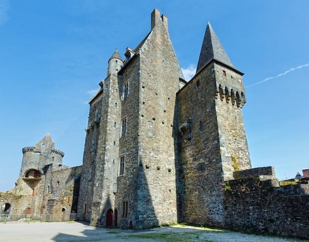 Middeleeuws kasteel in de stad vitre. gebouwd door baron robert i van vitre