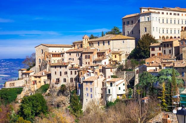 Middeleeuwse serie italië, stad todi, umbrië