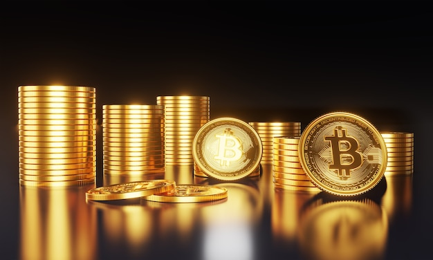 Mijnbouw golden bitcoins digitale valuta