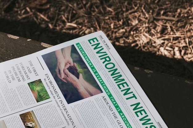 Milieunieuwskop op een krant