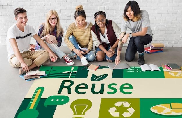 Milieuverantwoordelijke groene wereldwijde ecologie