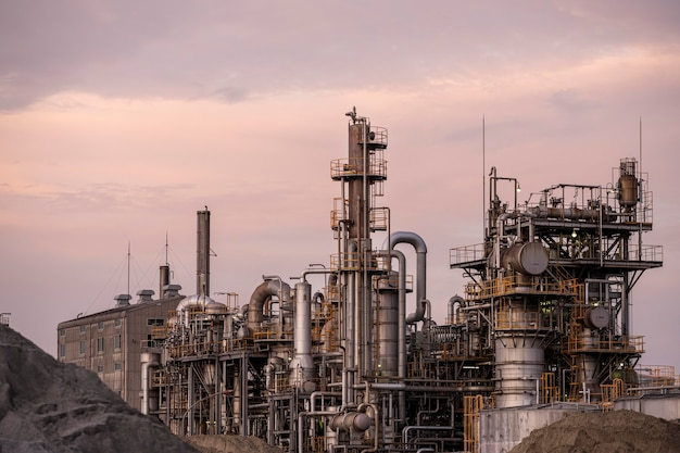Milieuvervuiling en fabrieksbuitenkant