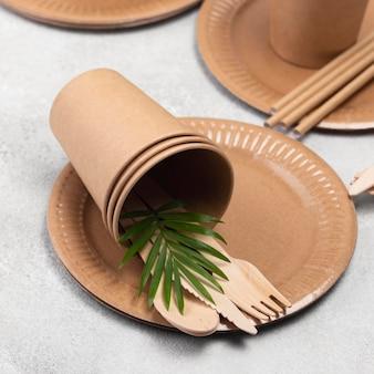 Milieuvriendelijk wegwerpservies zonder afval