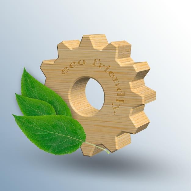 Milieuvriendelijke industrie en milieubehoud concept d illustratie