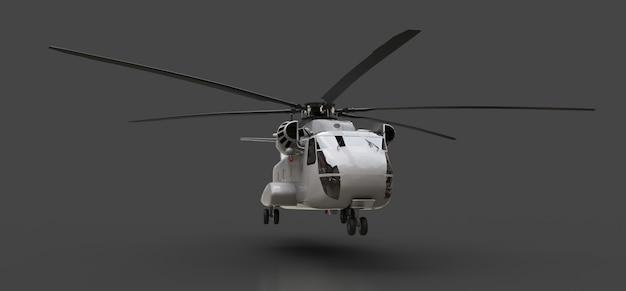 Militair transport of reddingshelikopter