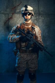 Militaire soldaat us leger mariniers exploitant