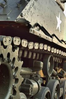 Militaire tank, transport
