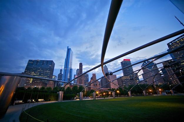 Millennium park: stad van chicago