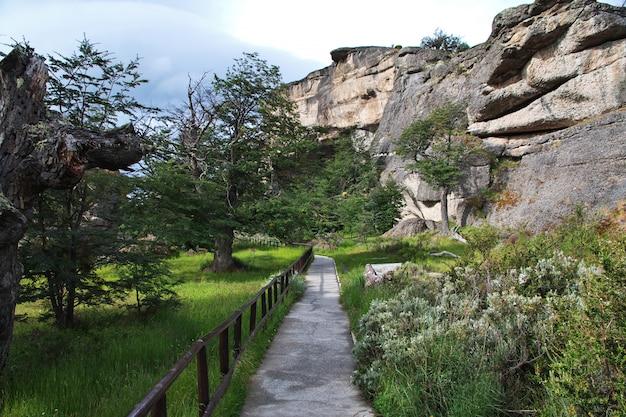 Milodon grot in torres del paine park, patagonië, chili