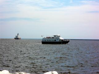 Milwaukee harborfront, meer