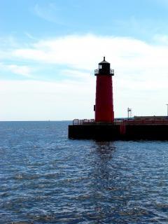 Milwaukee harborfront, michiganmeer