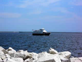 Milwaukee harborfront, rotsen