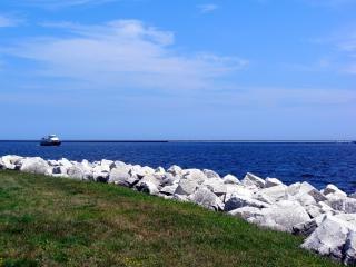 Milwaukee harborfront, schip