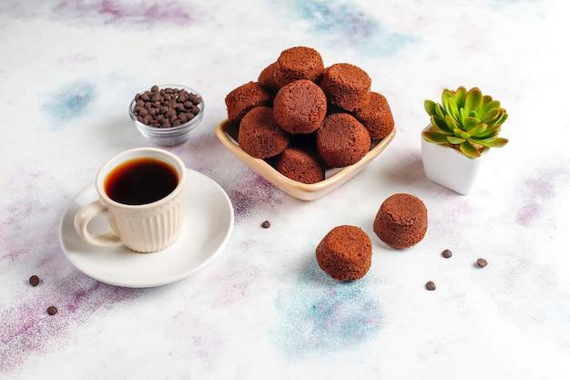 Mini-chocoladekoekjes. Gratis Foto