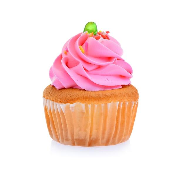 Mini smakelijke cupcake geïsoleerd op een witte achtergrond