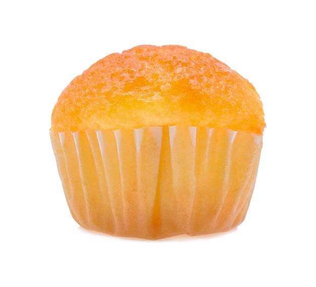 Mini smakelijke cupcake geïsoleerd op een witte achtergrond Premium Foto