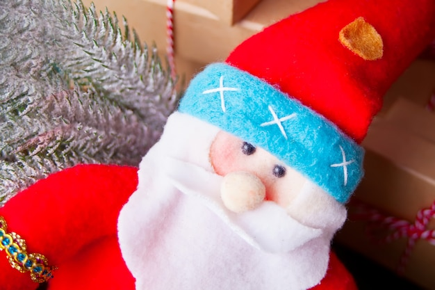 Miniatuur kerst grappig speelgoed santa