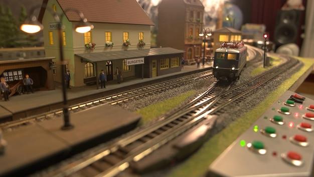 Miniatuur retro treinstation van burgstein.