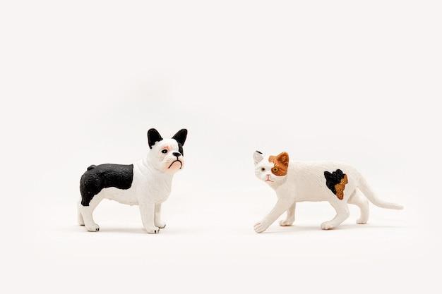 Miniatuur speelgoed voor huisdieren kat en hond