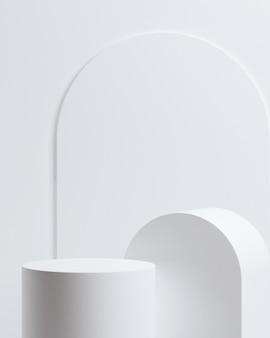 Minimaal abstract background.podium concept voor productpresentatie op witte background.3d rendering illustration