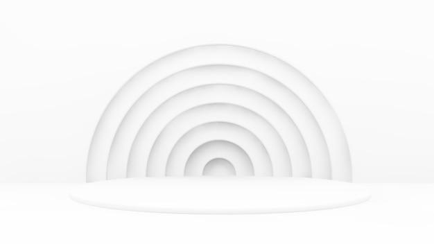Minimaal cirkelsplatform in 3d-weergave
